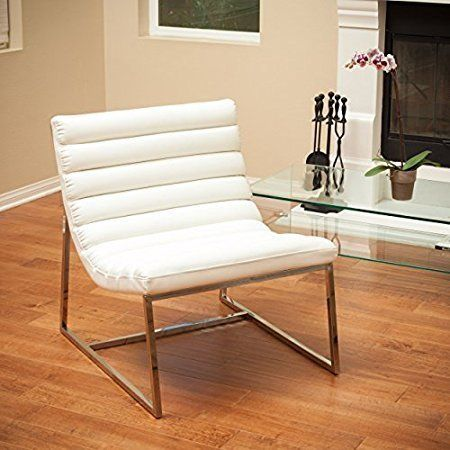 "This eclectic chair has cushioned rolls for extra comfort. Get it on <a href=""https://www.amazon.com/Kingsbury-White-Leather-"