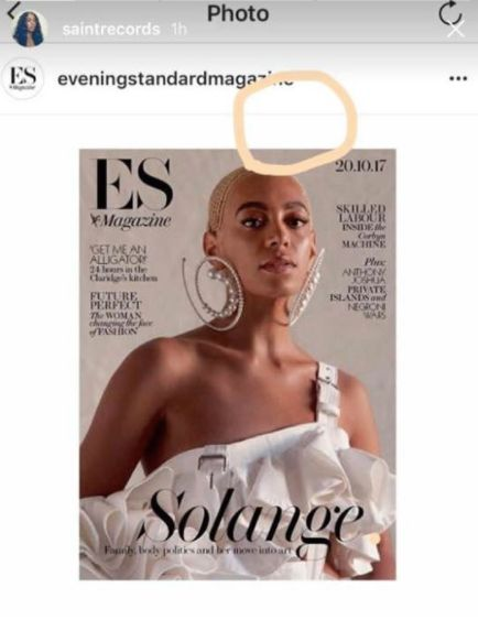 Evening Standard Magazine apologises to Solange for photoshopping her hair