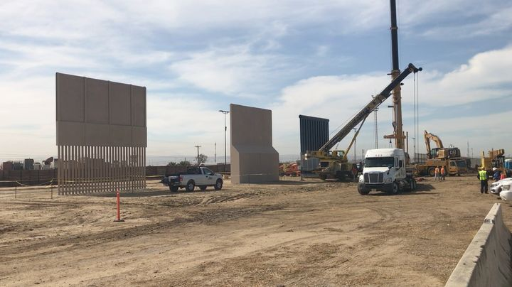 3 of 8 proposed border walls.