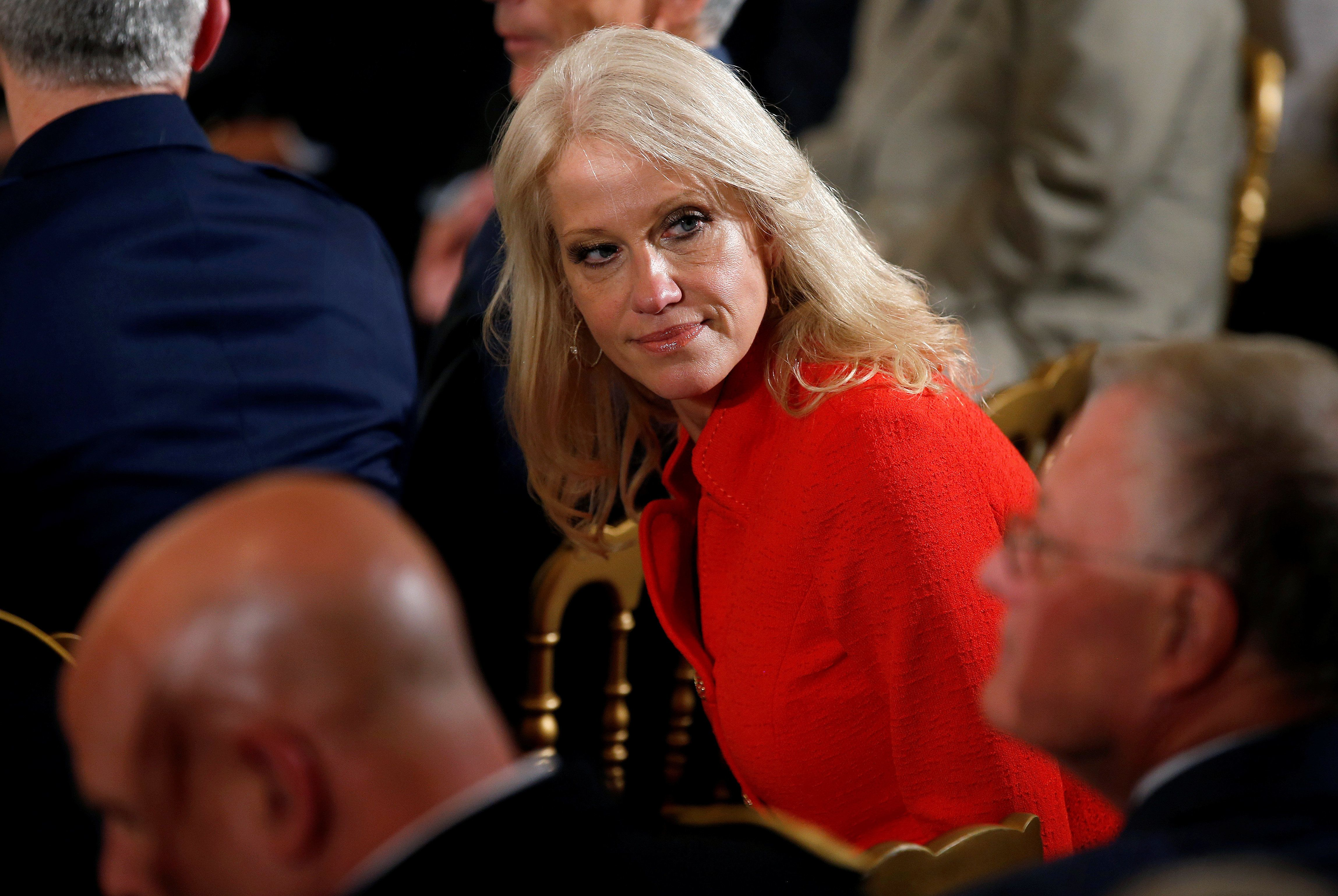 Kellyanne Conway is lambasting those criticizing Donald Trump for telling a combat widow her husband knew what he was getting into