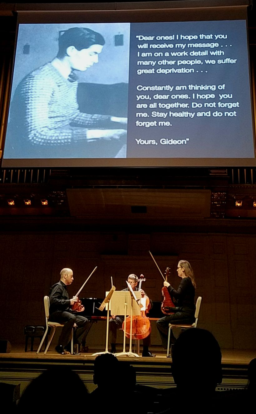 "Boston Symphony Orchestra members perform Gideon Klein's ""String Quartet."""