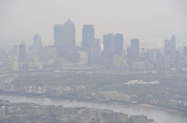 Air pollution over London (file picture dated