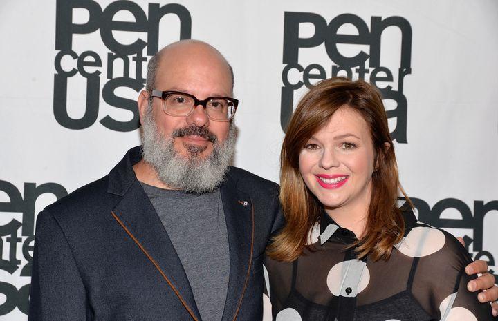 David Cross and wife Amber Tamblyn.