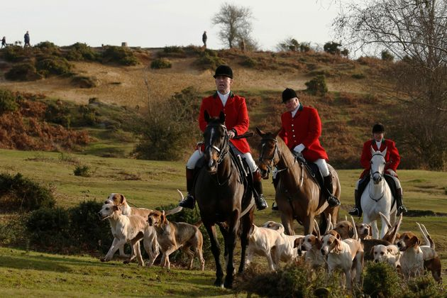 Peopleconduct a trail hunt on Boxing Day last