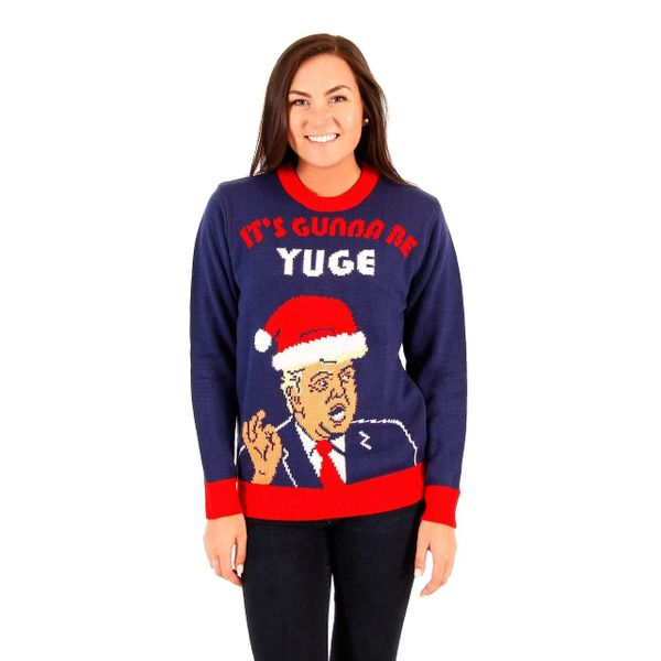 donald trump yuge christmas - Inappropriate Christmas Sweaters