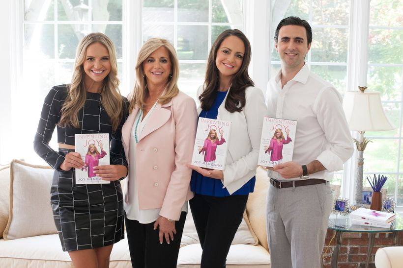 Joy Mangano with her three children. From left to right: Jackie, Joy, Christie, and Bobby.