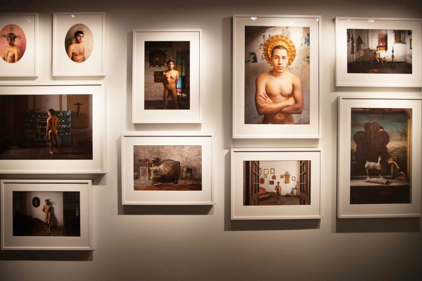 "An installation of photographs from the series ""Los Chicos"" (<em>The Boys</em>)"