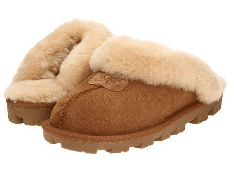 """Get these ridiculously comfy UGG slippers at <a href=""""https://www.zappos.com/p/ugg-coquette-chestnut/product/7138704/color/27"""