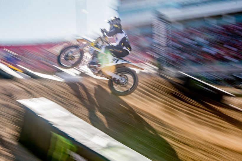 <strong>The Flash. </strong>Jason Anderson is no slouch on a dirt bike. In fact, he nearly won this event in 2015. This time