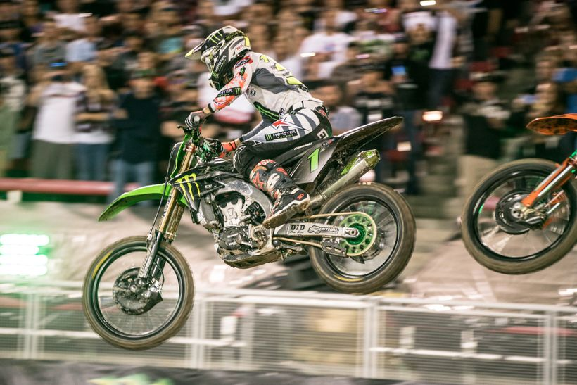 <strong>Short Lived.</strong> As fast as Tomac was in Vegas, it still may not have been enough to take on a charging Marvin M