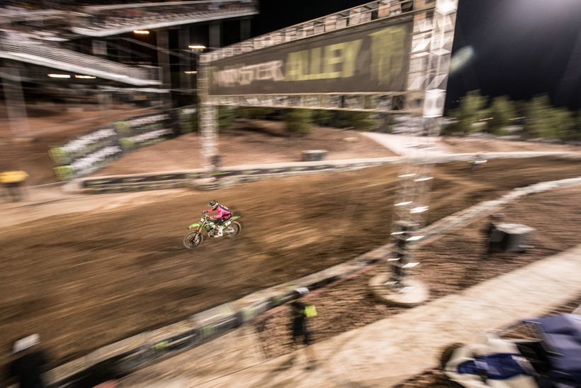 <strong>Hammering. </strong>The Monster Energy Cup has helped launch the careers of several riders since its inception, thank