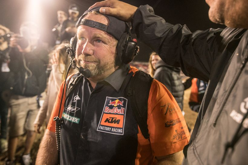 <strong>Worth It. </strong>Musquin's mechanic, Frank Latham has been in the MX game for a long time. A big win like the MEC i