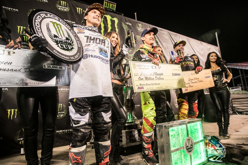 <strong>Pay Gap.</strong> $965,000: That's the difference between first and second place at the Monster Energy Cup. Still Hus