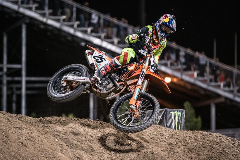 Marvin Musquin claimed the top prize of $1,000,000 at the 2017 Monster Energy Cup.