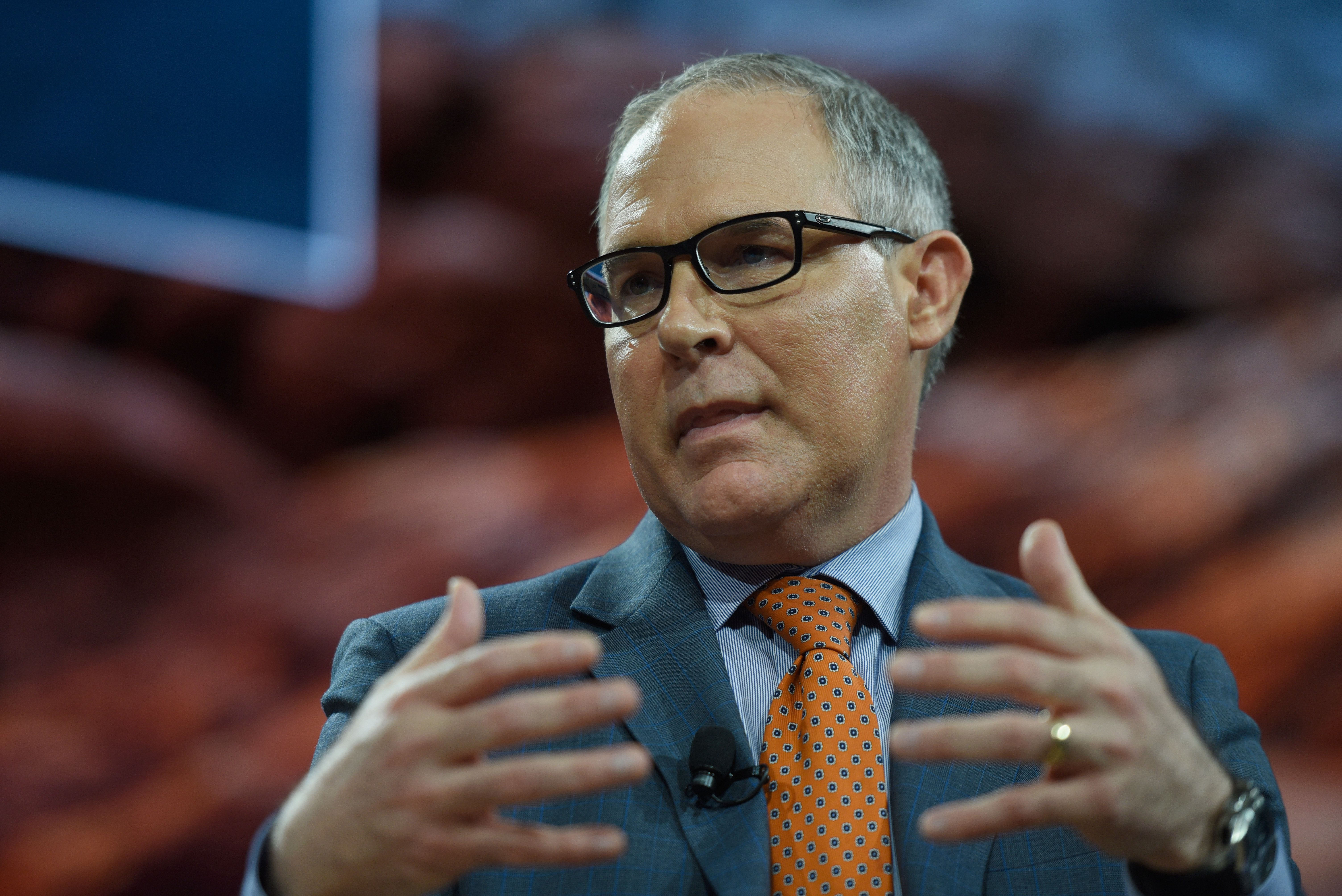 NEW YORK, NY - SEPTEMBER 19:  Scott Pruitt, administrator of U.S. EPA speaks at The 2017 Concordia Annual Summit at Grand Hyatt New York on September 19, 2017 in New York City.  (Photo by Riccardo Savi/Getty Images for Concordia Summit)