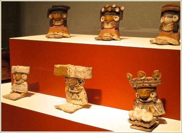 Figurines (200-250), ceramic and pigments.