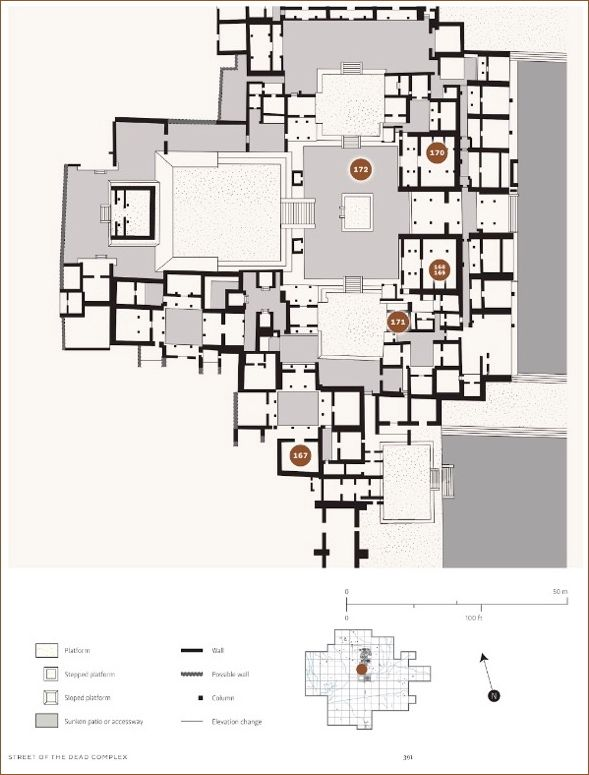 Floor plan, Catalogue, p. 391. Note the location of item #170.