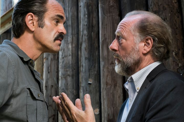 Steven Ogg as Simon (left), and Xander Berkeley as Gregory (right).