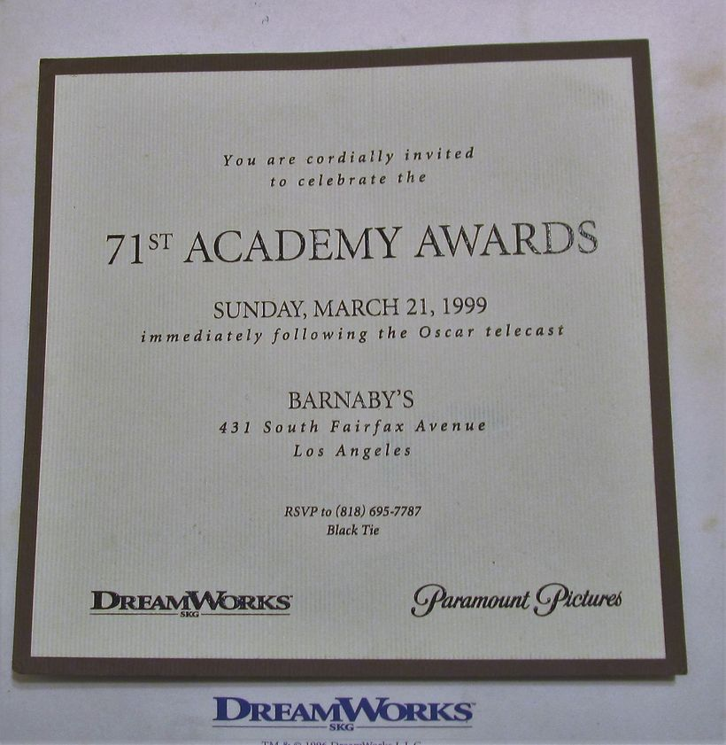 """The night Miramax pulled an upset win over DreamWorks, which was expected to snare the best picture Oscar with """"Saving Privat"""