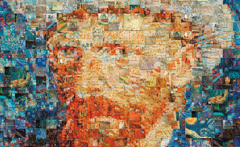 "Imagine-Van-Gogh Mosaic <a rel=""nofollow"" href=""https://www.internationalartistday.com/"" target=""_blank"">www.Lavillette.com</"