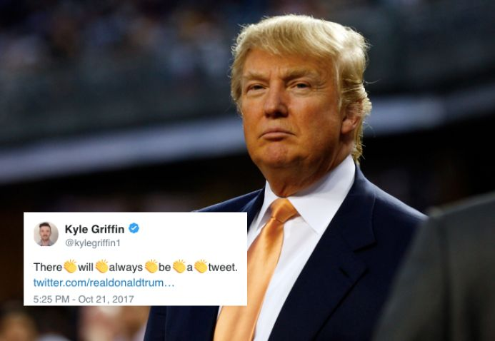 Of course Donald Trump tweeted about the Yankees in 2012.