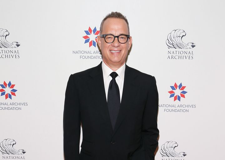 Tom Hanks at the National Archives Foundation Gala on Oct. 21, 2017, in Washington.