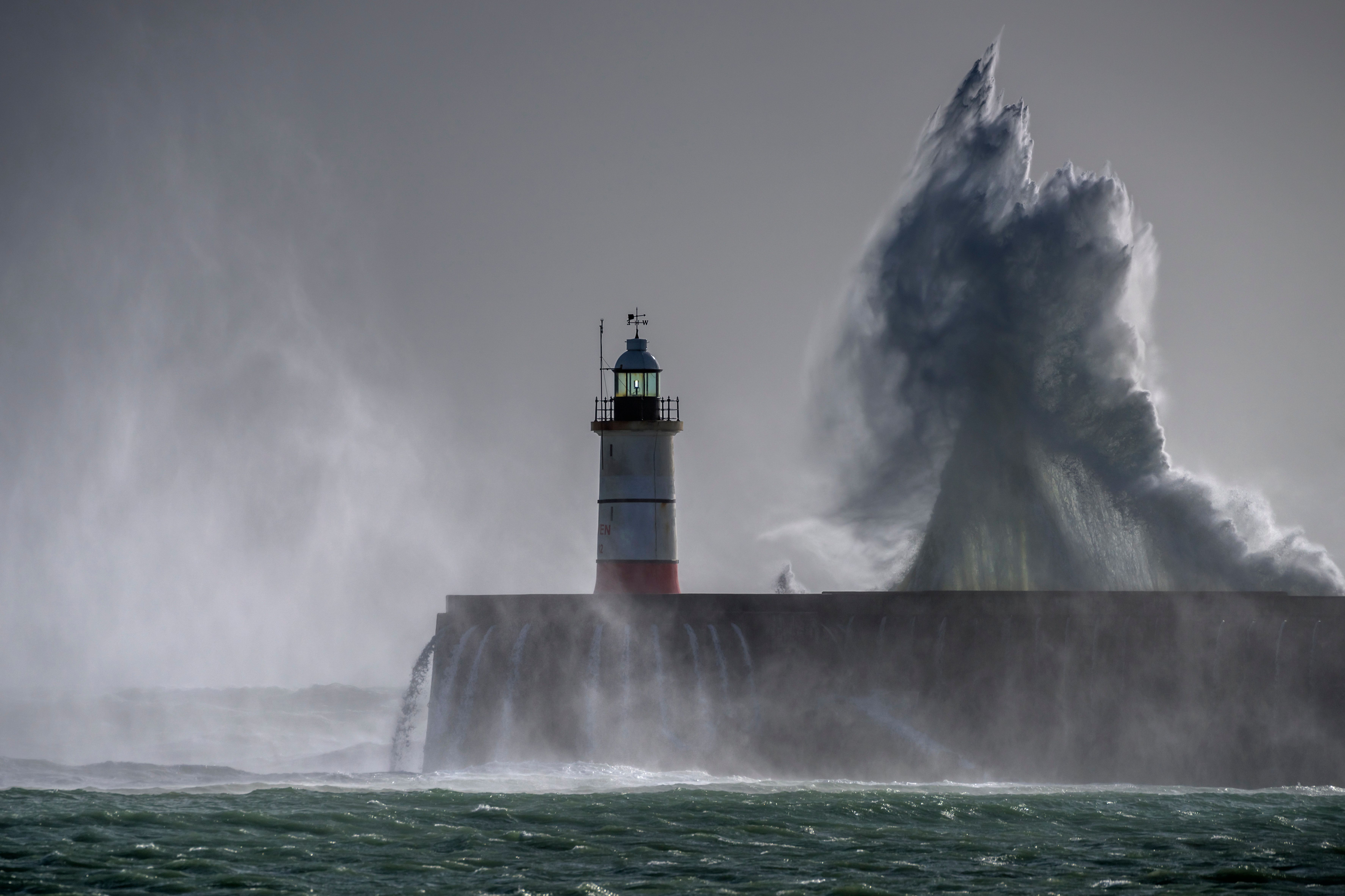Storm Brian Causes Flooding And Travel Disruption In UK And