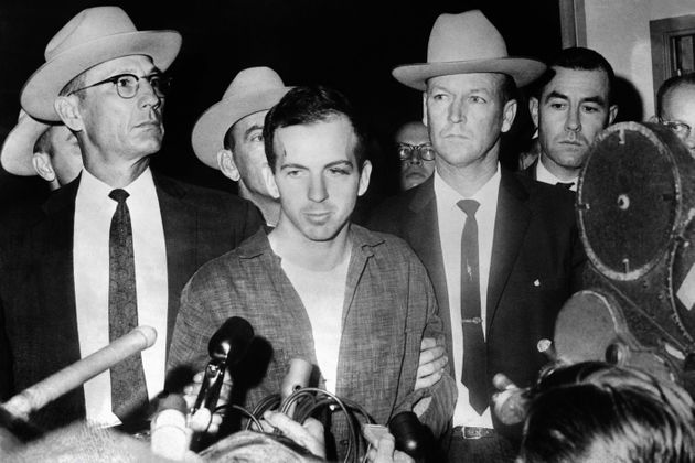 Lee Harvey Oswald during a press conference after his arrest in