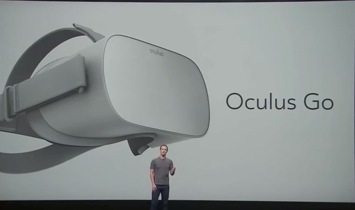Facebook CEO Mark Zuckerberg announces the new product called Oculus Go within Oculus Connect Keynote on October 11, 2017.