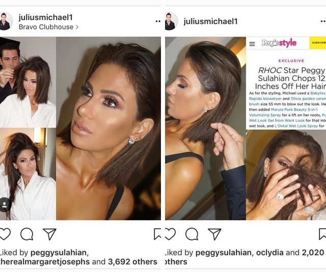 Peggy Sulahian decided on a whim to let Julius Michael chop off 12 inches of hair right before appearing on <em>Watch What Ha