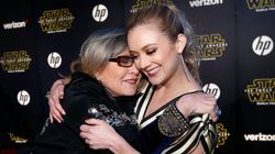 Carrie Fisher's Daughter And Dog Pay Tribute On Her