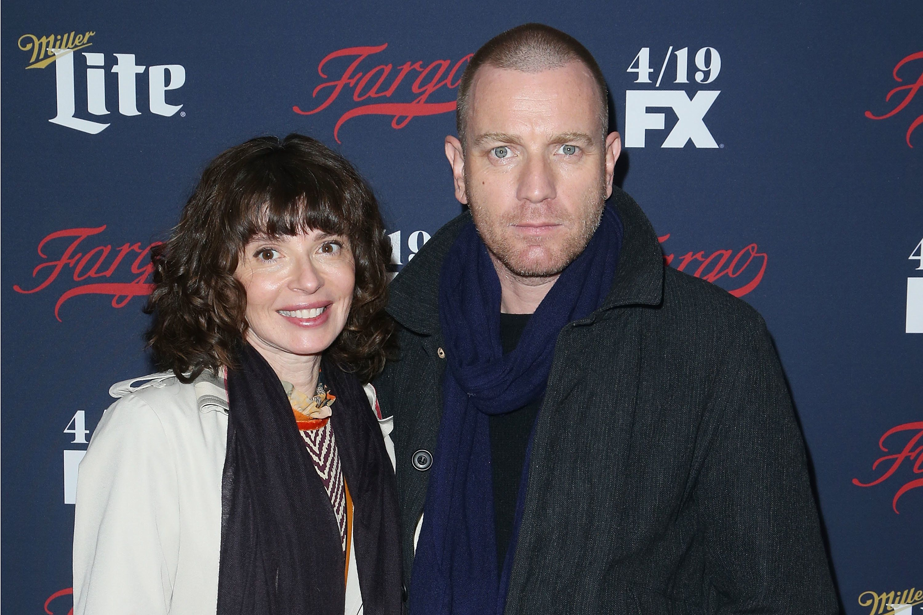 NEW YORK, NY - APRIL 06:  Eve Mavrakis and Ewan McGregor attends FX's 2017 Upfront at SVA Theater on April 6, 2017 in New York City.  (Photo by Jimi Celeste/Patrick McMullan via Getty Images)