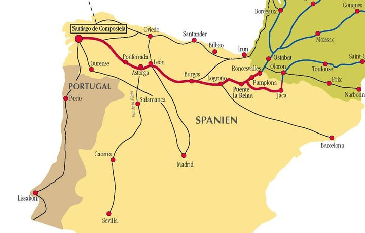 Camino in Northcentral Spain