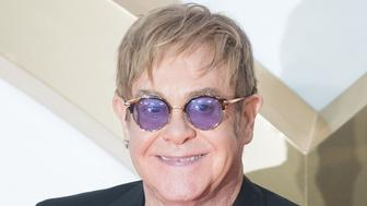 LONDON, ENGLAND - SEPTEMBER 18:  Elton John attends the 'Kingsman: The Golden Circle' World Premiere held at Odeon Leicester Square on September 18, 2017 in London, England.  (Photo by Samir Hussein/WireImage)