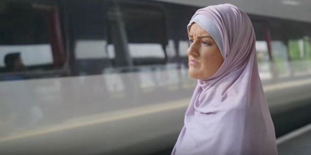 Katie Freeman dons 'brownface' to go undercover as a Muslim woman in the Channel 3 documentary