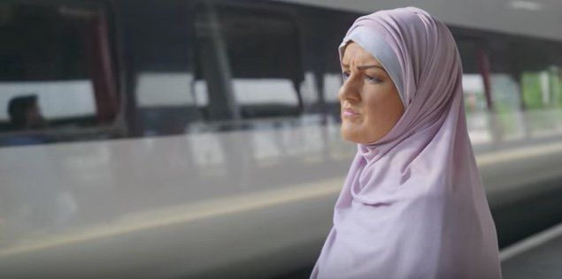 "Katie Freeman dons 'brownface' to go undercover as a Muslim woman in the Channel 3 documentary ""My Week As A Muslim."""