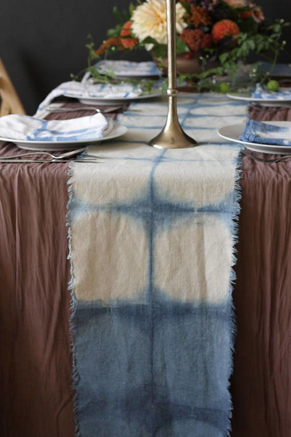 "Get it <a href=""https://www.etsy.com/listing/548042162/shibori-table-runner-indigo-blue-table"" target=""_blank"">here</a>."