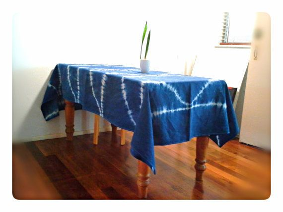 """Get it <a href=""""https://www.etsy.com/listing/471028534/shibori-fish-scale-linen-tablecloth"""" target=""""_blank"""">here</a>."""