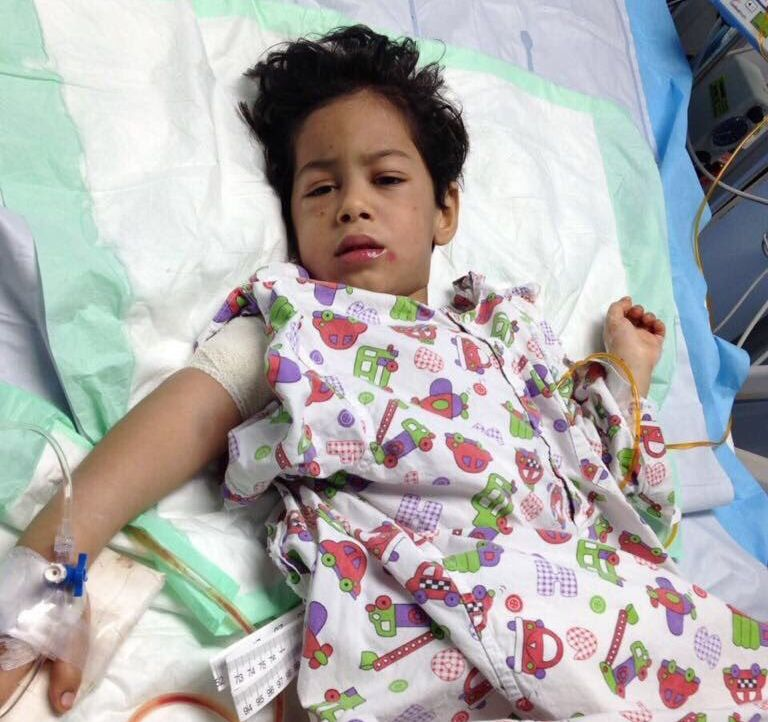Three-year-old Sajaad was a victim of the violence in Awamiya, Saudi Arabia