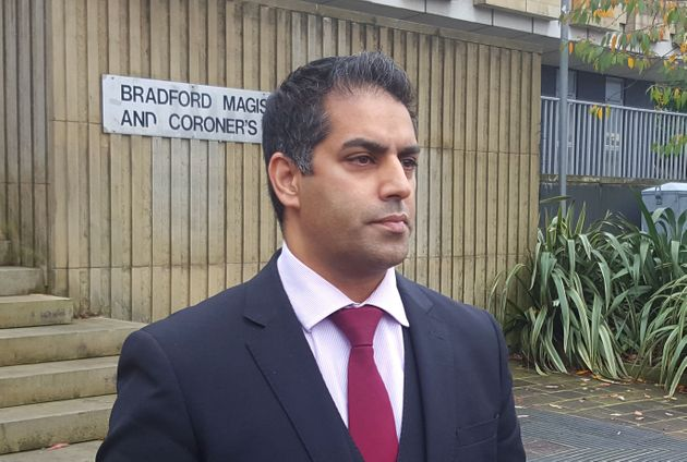 Defence solicitor Sajad Chaudhury outside Bradford Magistrates' Court as he appealed for witnesses to...