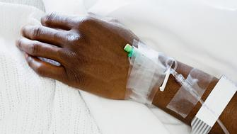 Arm of patient with drip