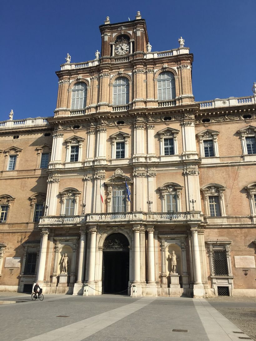 The ducal palace in Modena, once home to the Este family, now an officers' training school