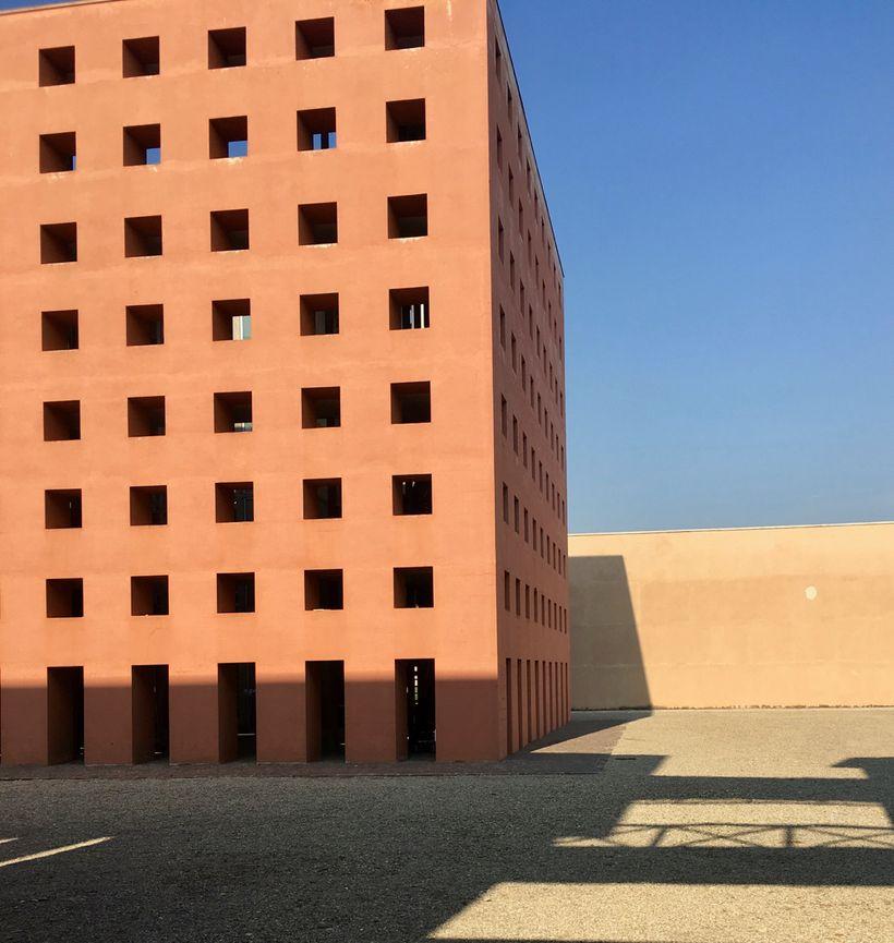 The architect Aldo Rossi designed this extension to Modena's San Cataldo cemetery