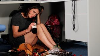 LOS ANGELES - SEPTEMBER 9: 'The Stinson Missile Crisis'-- Robin (Cobie Smulders) begins court mandated therapy sessions after assaulting a girl, on HOW I MET YOUR MOTHER, Monday, Oct. 3 (8:00-8:300 PM, ET/PT) on the CBS Television Network. (Photo by Cliff Lipson/CBS via Getty Images)