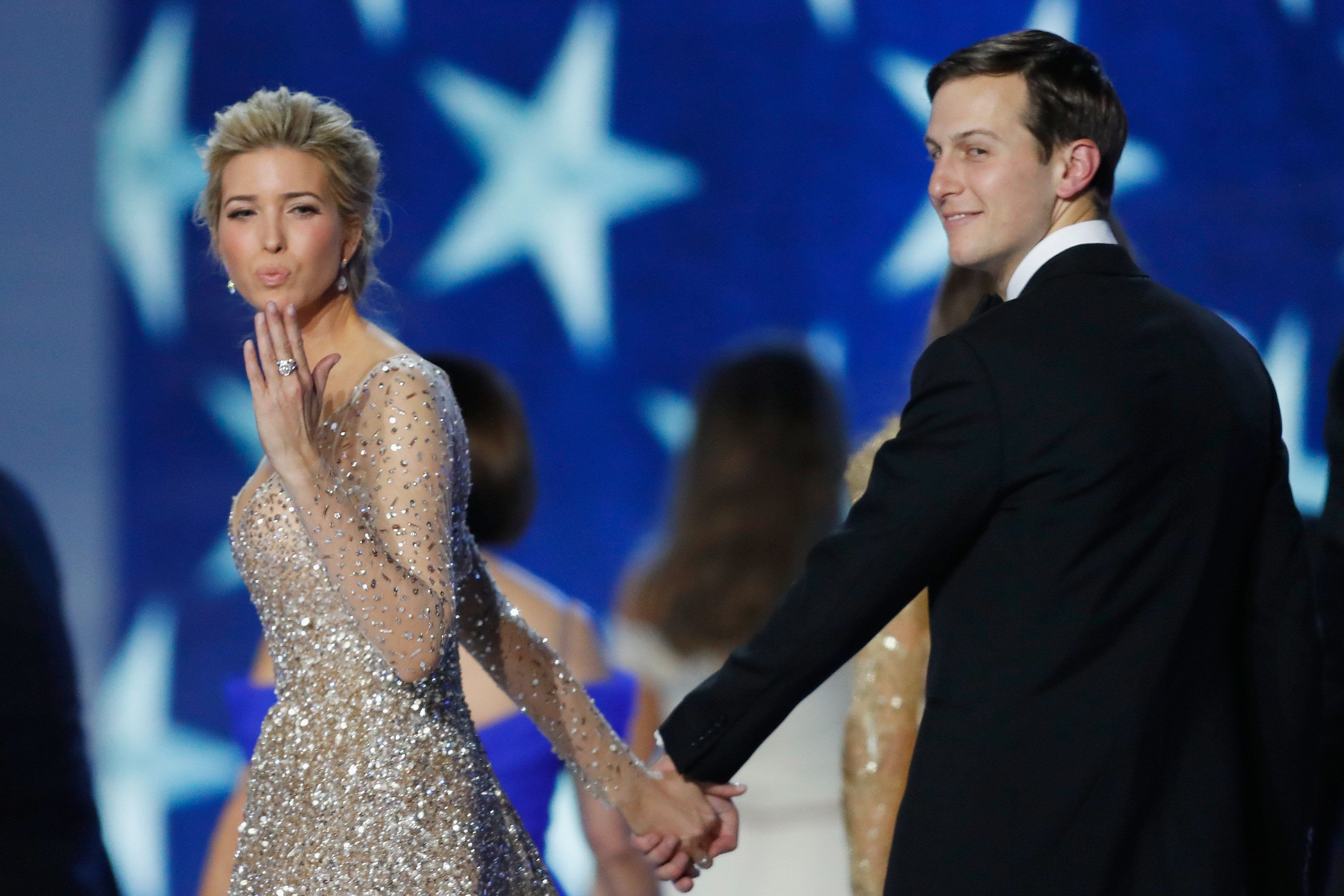 WASHINGTON, DC - JANUARY 20:  Ivanka Trump and husband Jared Kushner dance at the Freedom Inaugural Ball at the Washington Convention Center January 20, 2017 in Washington, D.C.  President Trump was sworn today as the 45th U.S. President.  (Photo by Aaron P. Bernstein/Getty Images)