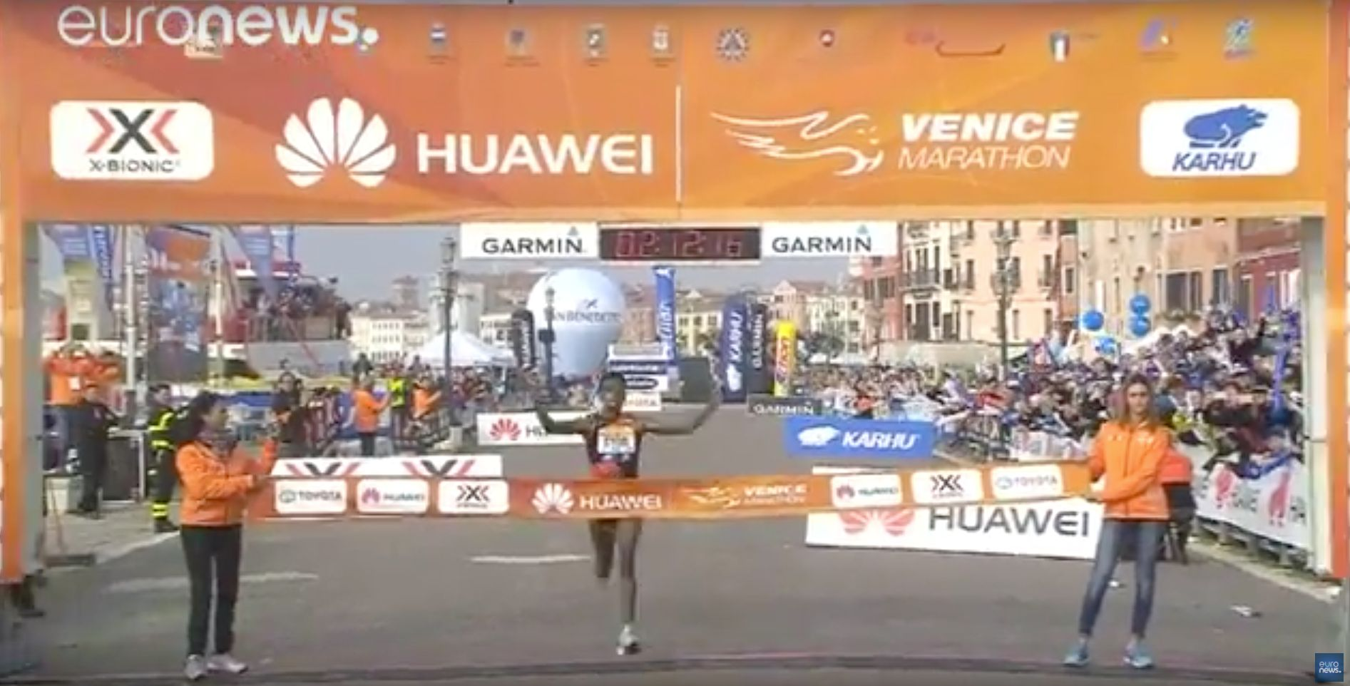 Eyob Faniel won the Huawei Venice Marathon on Sunday after six leading runners made a wrong turn