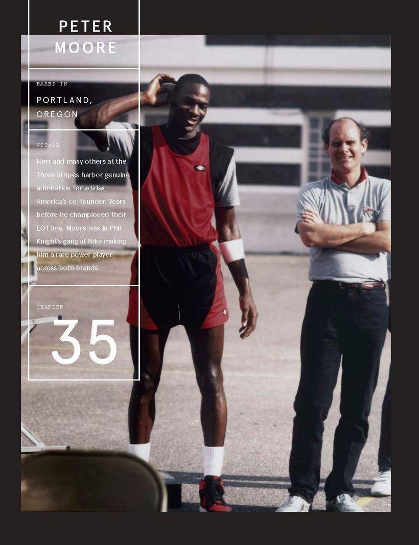 <strong><em>Michael Jordan</em></strong> and <strong><em>Peter Moore</em></strong>