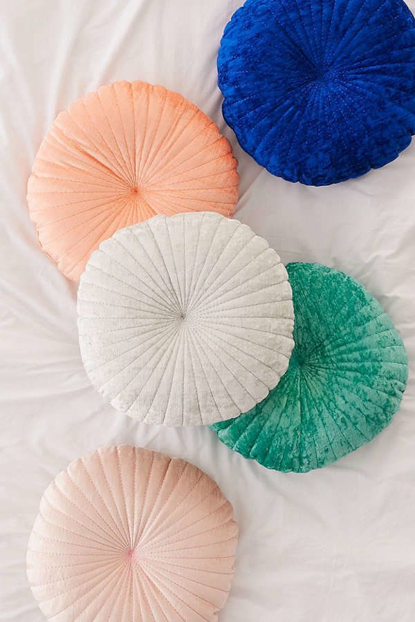 "Get it <a href=""https://www.urbanoutfitters.com/shop/shelly-round-velvet-pillow?category=decorative-pillows-throw-blankets&am"