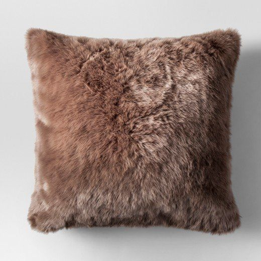 3 faux fur oversized throw pillow