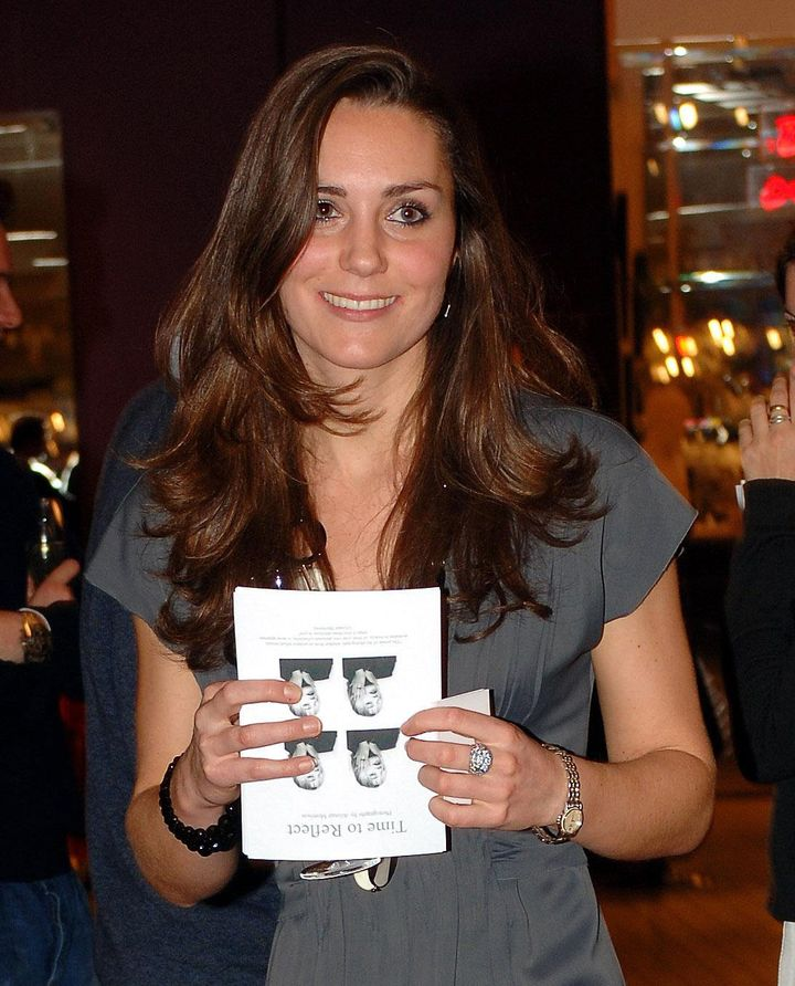 Kate Middleton attends the book launch party of 'Time To Reflect' by photographer Alistair Morrison, on Nov. 28, 2007 in Lond